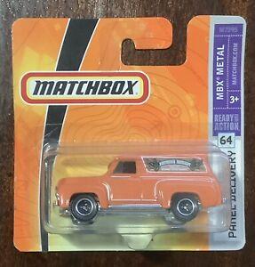 MATCHBOX FORD F-100 PANEL DELIVERY ORANGE SHORT CARD #64 F100 1953 1954 1955 56