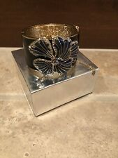 Jcrew Bracelet No Defects Black, Gold, Blue Flower