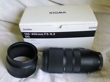 Sigma 100-400mm lens f5-6.3 DG, Canon fit, complete with Sigma USB Dock UD-01.