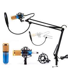 Pro Audio Stereo Condenser Microphone Mic Studio Sound Recording w/Boom Stand