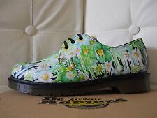 Dr Martens 1461 scarpe donna derby vera Pelle Green Paint Slick n.39 UK6 €131