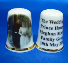 China Thimble - Prince Harry and Meghan Wedding Family Group -  Free Box
