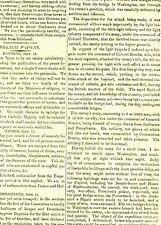 British troops Burn Washington & White House Original Times September 28 1814 B2