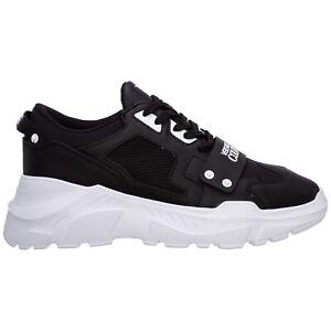 Versace Jeans Couture sneakers men E71YA3SC4-E71604_E899 Black Pelle shoes