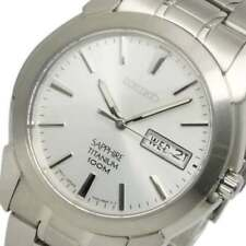 SEIKO MEN'S SLIM TITANIUM SAPPHIRE 100M WATCH SGG727P1 Warranty, Box