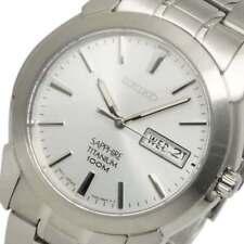 SEIKO Para Hombre ajustada de Titanio Zafiro 100M Reloj SGG727P1 Garantía, Caja