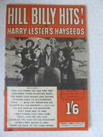 Hill Billy Hits! of Harry Lester's Hayseeds Sheet Music Booklet  Uke Banjo Guita