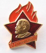 """Soviet Lenin Young Pioneers """"For Activism"""" Pin Badge Youth Flame Communist"""