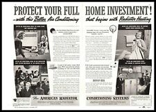 1937 American Radiator Air Conditioning Systems & Ideal Boilers 2-Page Print Ad