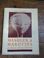 masques et marottes en papier, carton et feutrine par Albert Boekholt