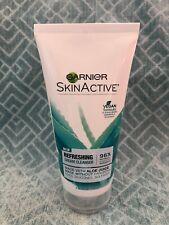 NEW Garnier Skin Active Refreshing Cream Cleanser Face Wash Aloe 5.75 fl oz