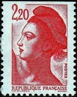 "FRANCE STAMP TIMBRE N° 2427 "" LIBERTE 2F20 ROUGE DE CARNET "" NEUF xx LUXE"