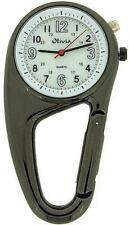 TOC Clip On Doctors Nurses Unisex Carabiner - Backlight Pocket Fob Watch TOC57