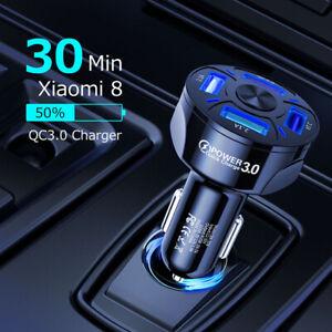 4-Port-USB-Schnellladegerät USB für Samsung IPhone Android-Handy