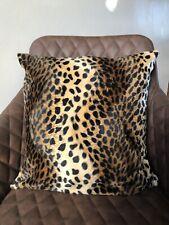 "Faux Leopard Print 16""/18""/20"" Square Cushion Cover"