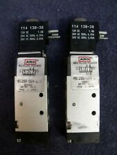 "Lot of 2 ARO Sierra 18 Solenoid Air Control Valves~1/8"",4-Way,12VDC/24VAC Coils"