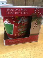 Mug Greenbrier Int'l Holiday 14oz festive Christmas sayings  coffee cup NIB