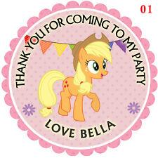 Personalizzato My little pony 50mm x15 Adesivi Festa Ringraziamenti Sigilli