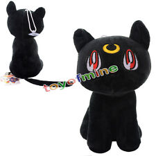 1PC Anime Sailor Moon Soft Plush Doll Toy Black Cat Luna Anime Cosplay Toy Gift
