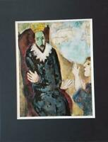 """Marc Chagall """"Joseph Explains Pharaoh's Dreams"""" Matted Offset Lithograph  1973"""