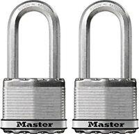 Master Lock 235292 2.5 in. Stainless Steel Laminated Padlock - Pack of 2