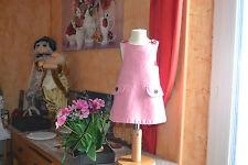 ROBE BONPOINT 6/12 mois rose  doublee 100% laine tres douce et tendre