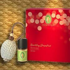 Primavera Geschenkset Sparkling Grapefruit ätherisches Bio-Öl Duftstein-Anhänger