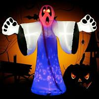 Foomnet 8 Ft Halloween Inflatable Witch Ghost Decoration Lantern Inflatables Wit