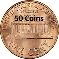 1984 P GEM CHOICE BU LINCOLN CENT PENNY ROLL  - BRAND NEW! - 50 COINS