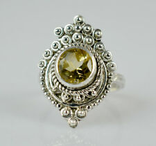 Citrine Silver Ring 925 Solid Sterling Silver Handmade Jewelry Size 3 to 13 US