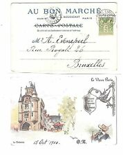13) 1900 World Exhibition during Olympic Games card cancel Paris Expo BEAUX ARTS