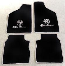 Autoteppich Fußmatten für Alfa Romeo 33  schwarz silber Logo u. Schrift Neuware