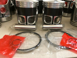Yamaha RZ350 RZ 350 66.50mm 66.50 Bore Wiseco Pro Lite Pistons Piston Pair Set