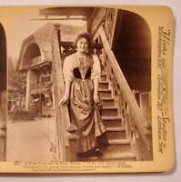 Stereoview Underwood A Swiss Home And Its Home Maker Women In Dress Whittier (O)