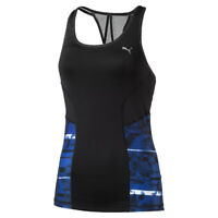 Puma 2-in-1 Tank Top with Pretty Racer-Back in Black/Blue Print - - 33% OFF RRP