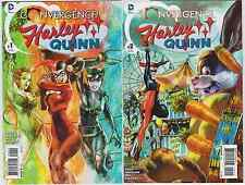 (2015) HARLEY QUINN convergence #1 & 2 1st print set! Catwoman! Poison Ivy