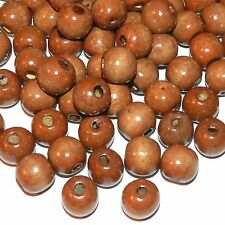 W664L2 Brown 14mm Round Rondelle Wood Beads 1oz Package (30/pkg)