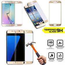 Genuine 3D Tempered Glass Anti Screen Protector for Samsung Galaxy S7 Edge Gold