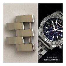 Perfect Breitling Chronomat GMT AB0412 384A 20mm Pilot Link With Pins & Screws