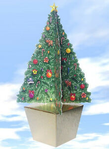 Large Christmas Tree Gift Box -  No wrapping paper needed