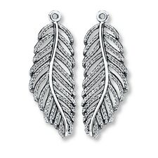 Authentic Pandora 925 Silver Light As A Feather Earring Charms ONLY #290584CZ