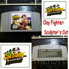 US Vers English Clay Fighter Sculptor's Cut N64 Game Cartridge Console Game Card