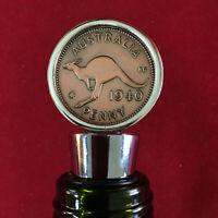 80th Birthday Gift Anniversary Present 1940 Australian Penny Wine Stopper