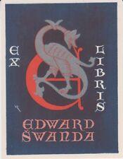 Ex-libris Eduard SVANDA dessiné par Vaclav RYTIR (1889-1943)  Prague Tchèquie
