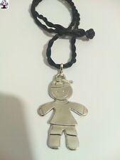 Colgante niño en plata tibetana + REGALO cordón