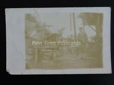 Mechanical Shaft / Lathe Possibly Driven by Steam Traction Engine c1904 RP PC