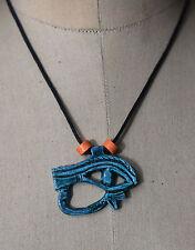 Egyptian Ägypten Pharaoh  Eye of Horus Necklace/Collar,Hand Carved Stone & Beads