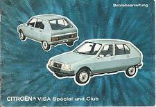 Citroen visa Special Club manual de instrucciones de manual de instrucciones manual ba