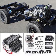 Simulation LS3 V8 6.2L Engine w/Cooling Fan for Trx4 Jeep Land Rover d90/110/130