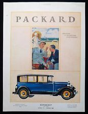 PACKARD BARBEZAT AUTOMOBILE MOTOR CAR COMPANY FRENCH MAGAZINE ADVERT c1930
